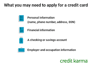 Things you may need to apply for a credit card include personal information, financial information, a checking or savings account, or employee and occupation information