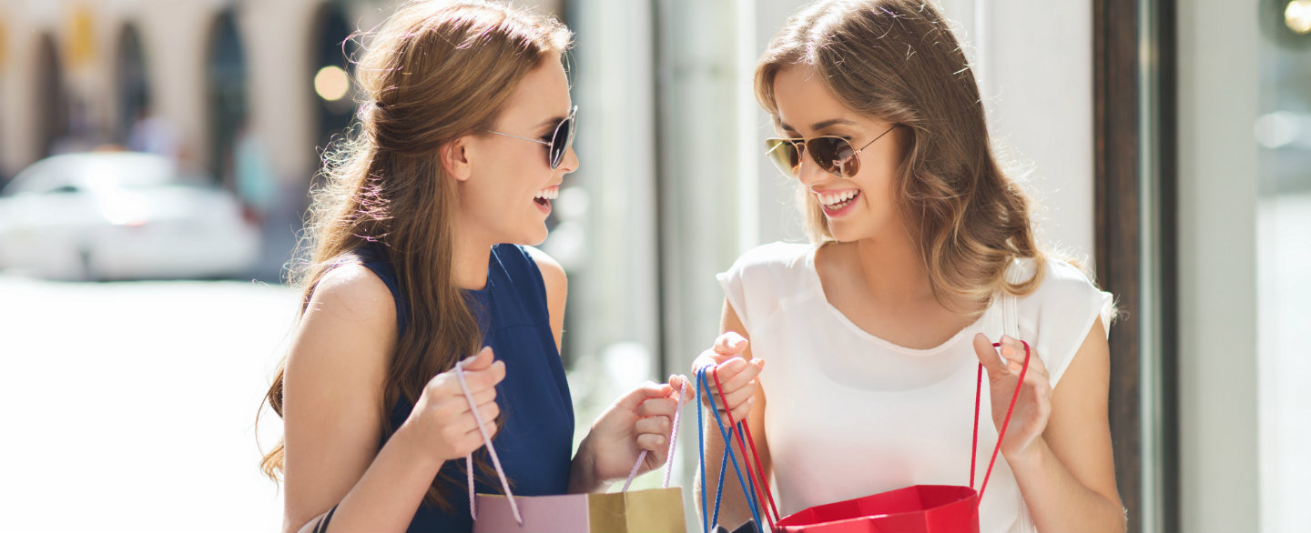 Are store cards the easiest credit cards to get approved for two young women comparing shopping hauls and chatting about retail credit cards magicingreecefo Gallery