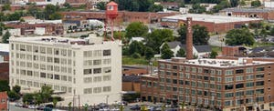 Downtown Winston-Salem, which came top of the Credit Karma auto financing report
