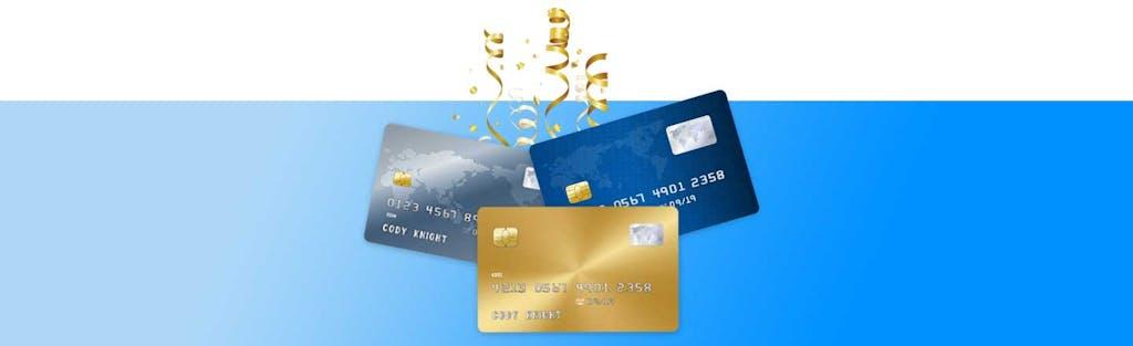 0% APR credit cards and confetti