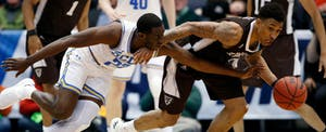 Basketball players battle in First Four round of March Madness