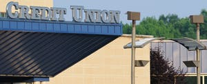 """""""Credit union building with sign, horizontal"""