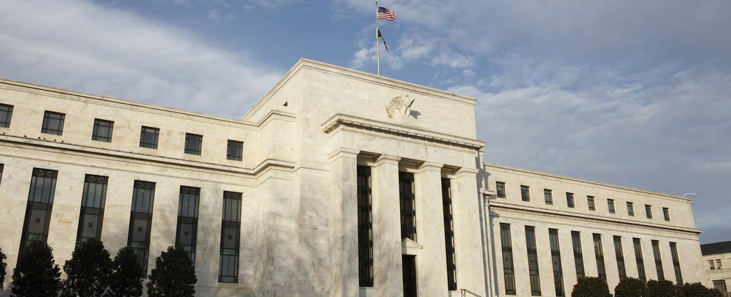 The United States Federal Reserve bank, in Washington, D.C., which sets rate that can have an impact on the prime rate.