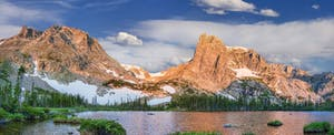 Lake Helene is a scenic peak in Colorado's Rocky Mountain National Park.