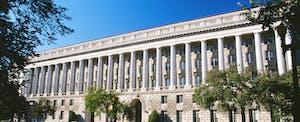 Internal Revenue Service building Washington, D.C., on a sunny day