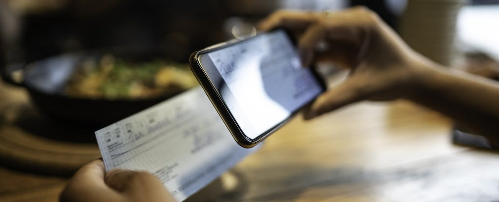 Depositing a stimulus check with a smart phone