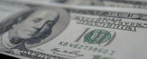 Closeup of a $100 bill