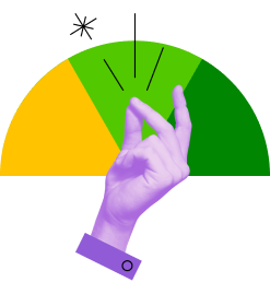 Hand snapping to show how easy it is to raise your credit score from low to high