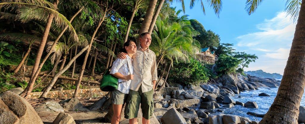 Couple at romantic tropical beach